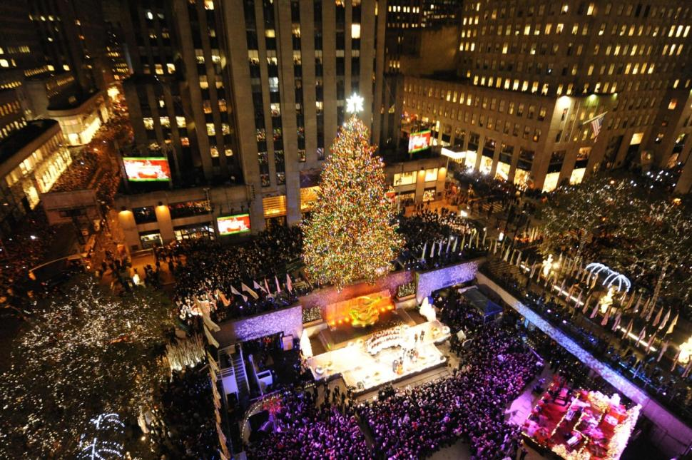 Rockefeller Center in Christmas